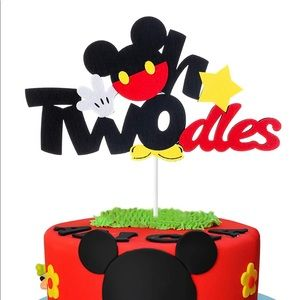 NWT! Mickey Mouse Twodles 2nd Birthday Cake Topper